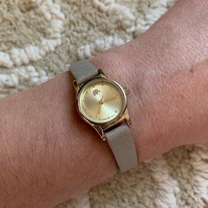 Francesca's Leather-Like Gold Faced Elephant Watch